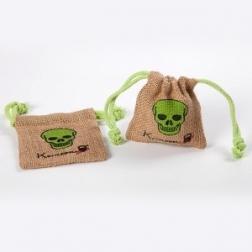 Environmental-friendly customized jute drawstring bag