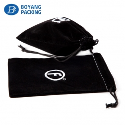 Soft and fashionable packaging,black velvet jewellery pouches