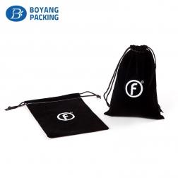 Logo customized velvet drawstring gift bag