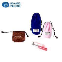 High Quality Cosmetic Velvet Gift Pouch Drawstring Velvet Bag Wholesale