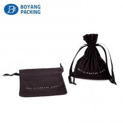 Wholesale customized cotton fabric drawstring bag