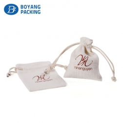 High quality luxury linen drawstring jewelry pouch