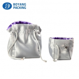 Online shopping customized satin jewelry bag