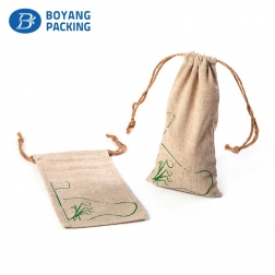 Wholesale customized linen drawstring gift bag