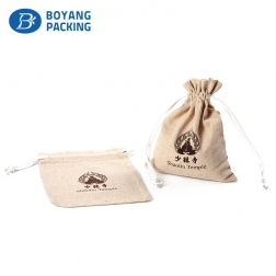 Factory cheap wholesale hemp bag drawstring