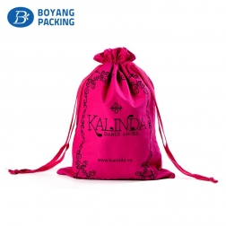 High quality customized cotton drawstring gift bag