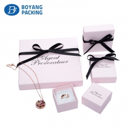 Luxury rigid collapsible custom Jewelry gift box