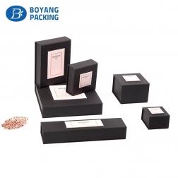 Charm black jewelry box paper