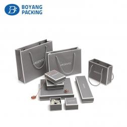 Perfect grey cardboard jewelry box