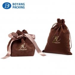 Warm-toned velvet jewellery pouches