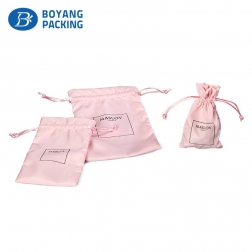 High-grade pink microfiber jewelry bag