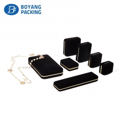 black luxury plastic jewelry box for jewelry