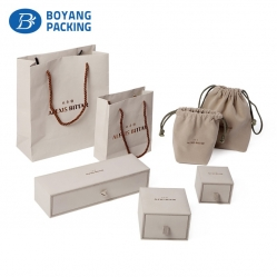 OEM high end jewelry drawer box and drawstring pouch