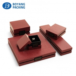 High quality logo customized paper jewelry boxes