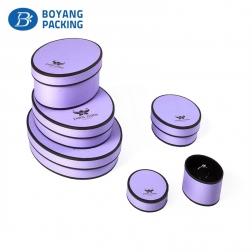 paper jewelry box in oval shape