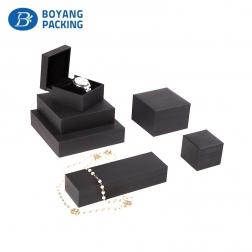 Luxury custom black Jewelry gift box