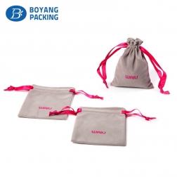 Custom high quality velvet jewelry pouch
