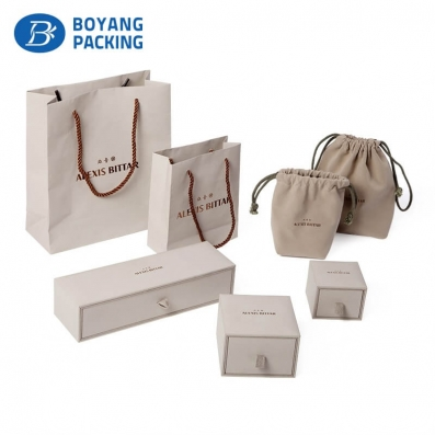 Custom paper jewelry box sets manufacturer