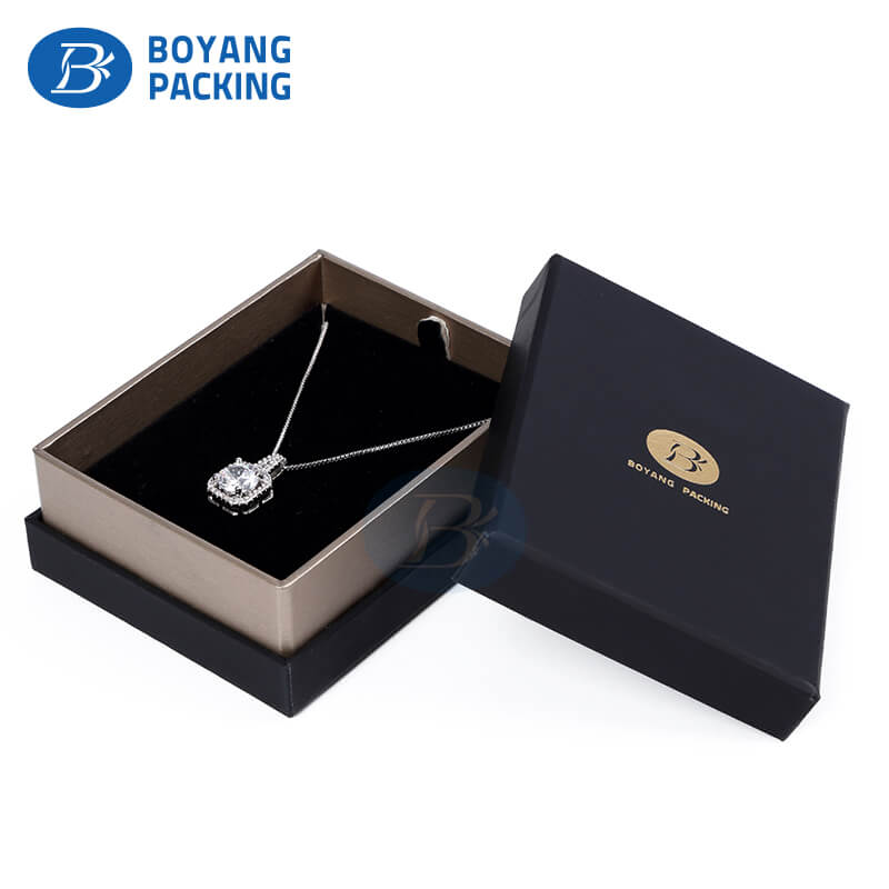Black jewelry boxes wholesale necklace boxes supplier