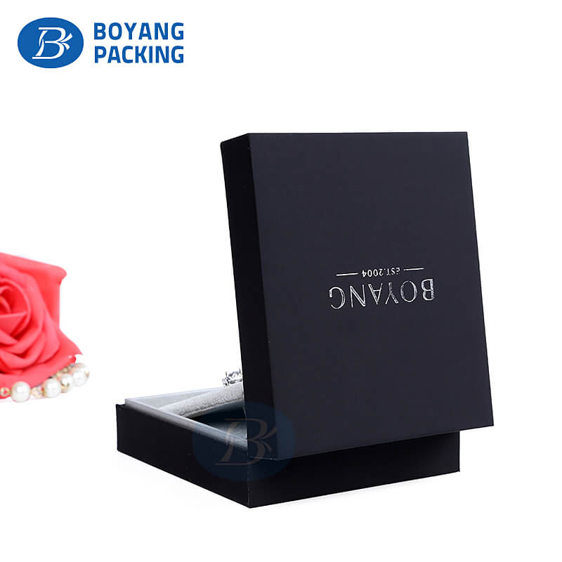Black earring boxes wholesale