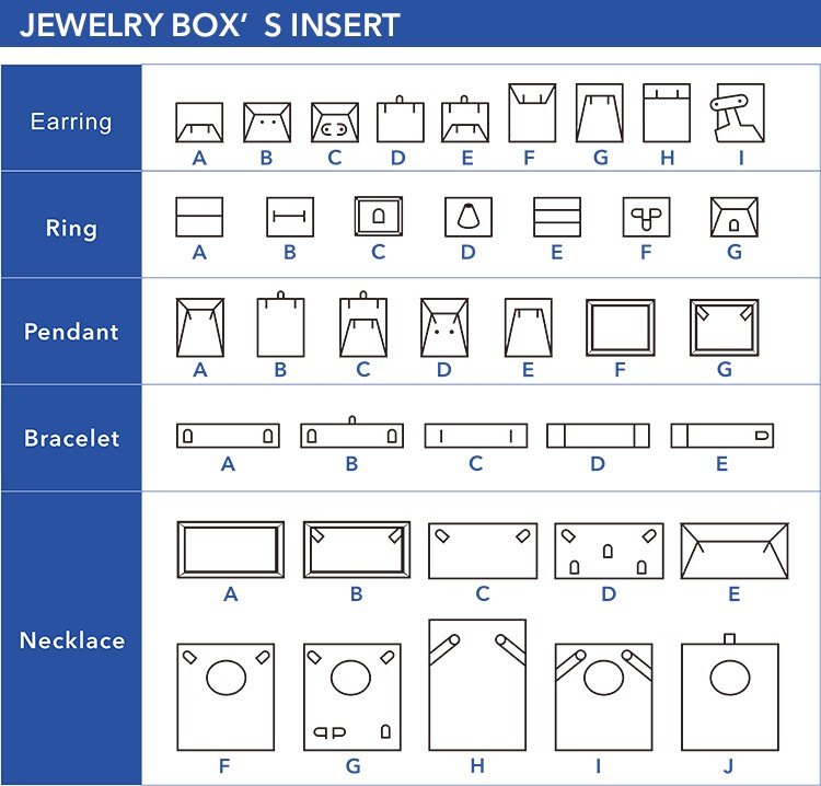 Appealing jewelry boxes wholesale insert
