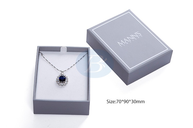 Custom Gray Paper Jewelry Boxes Wholesale Jewelry Packaging Set