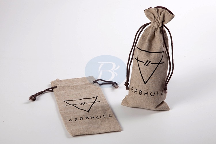 high quality customized jute drawstring bag