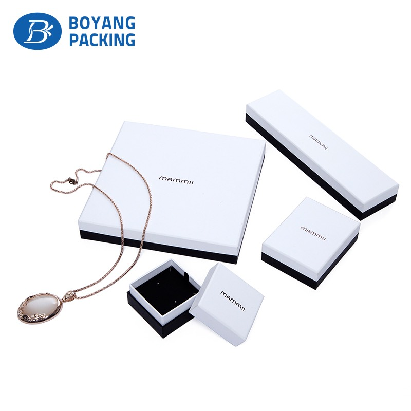 Pure white jewelry boxes sets wholesale
