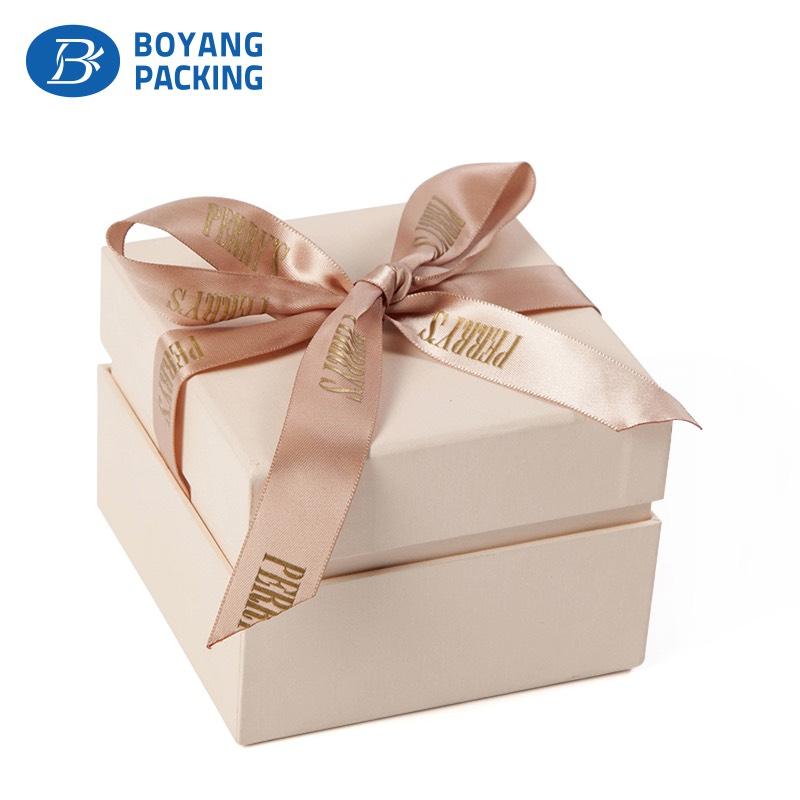 Luxury custom paper Jewelry gift box with ribbon Jewelry box