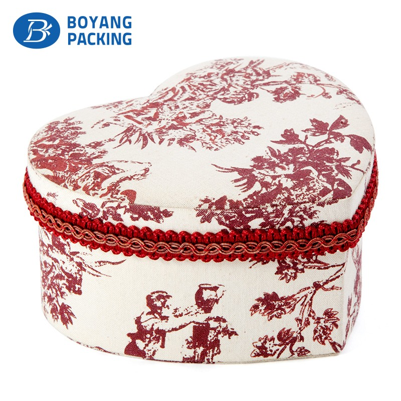 Beautiful pattern fabric jewelry box Jewelry box