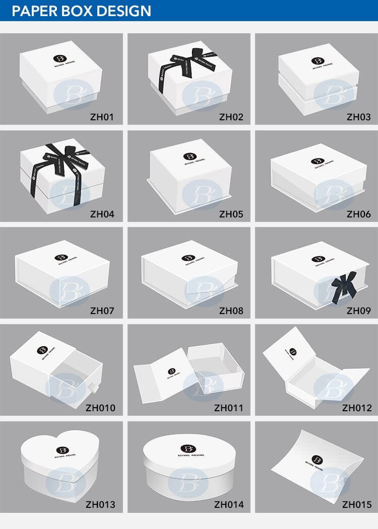 paper jewelry boxes design