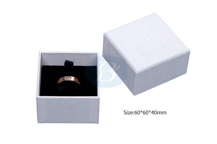 pearl white paper ring box manufacturers