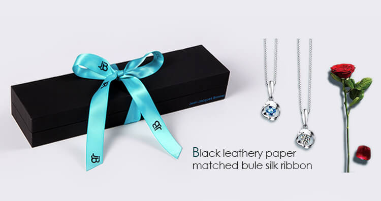custom black plastic necklace gift boxes factory