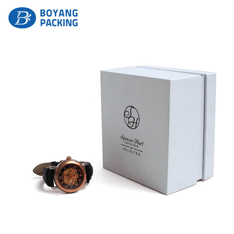 Wholesale white paper watch box, china watch box factory