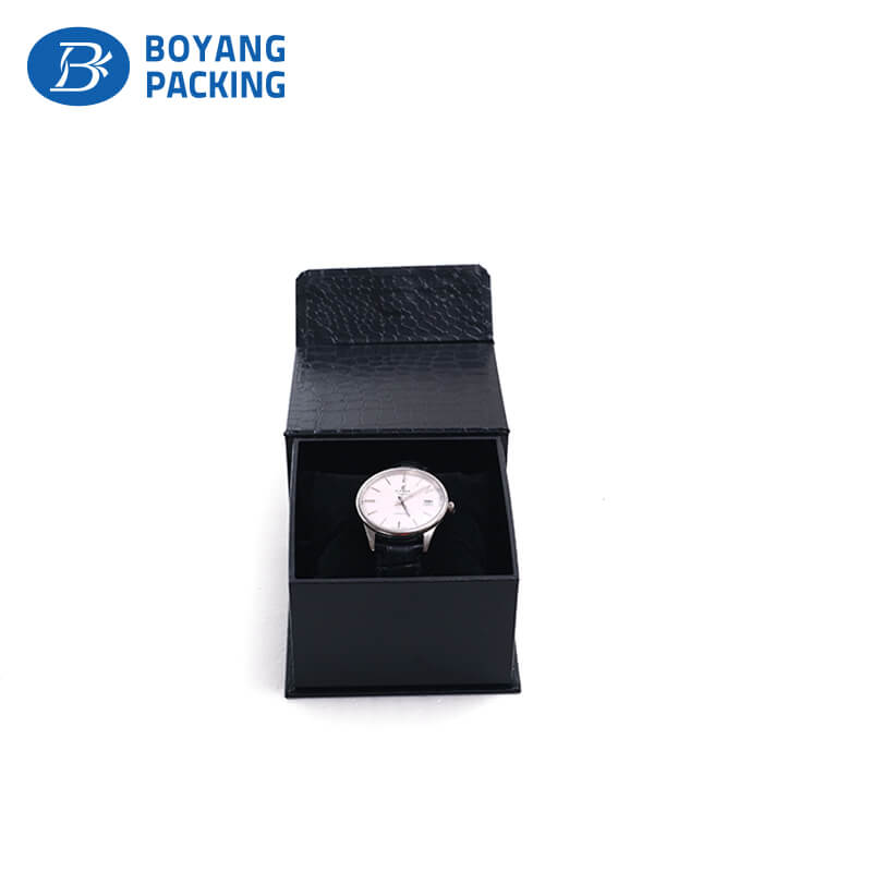 Customized printed paper jewelry box, watch package factory