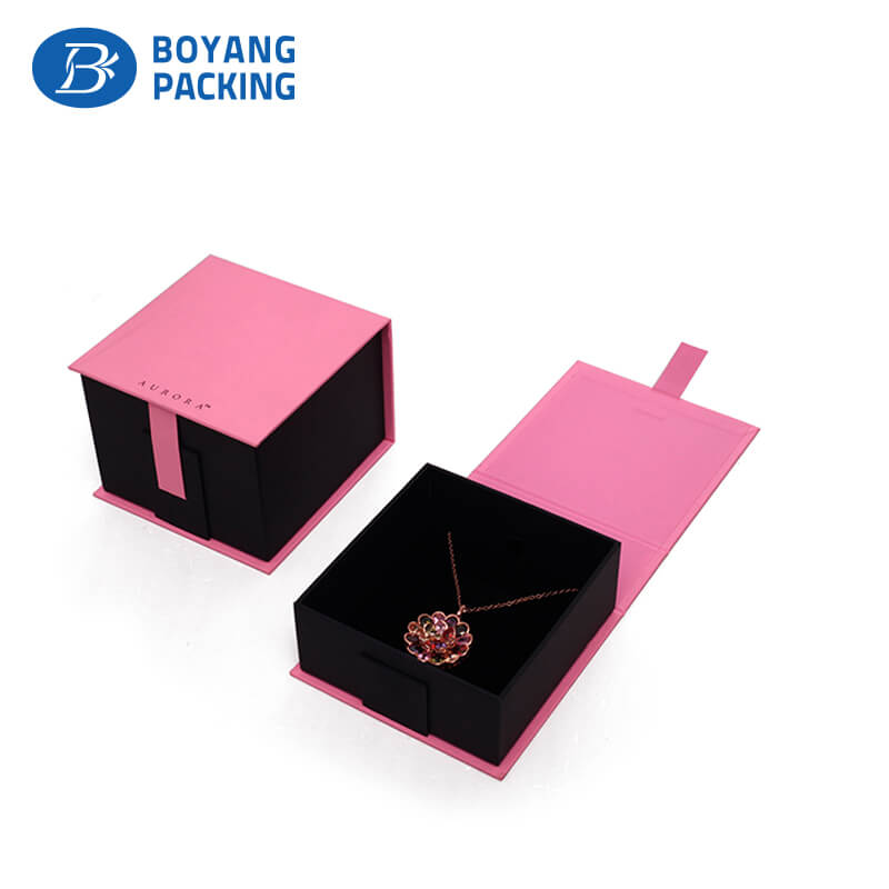 Delicate cardboard jewelry box