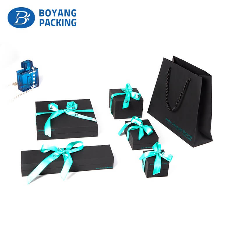 custom black plastic jewellery box factory