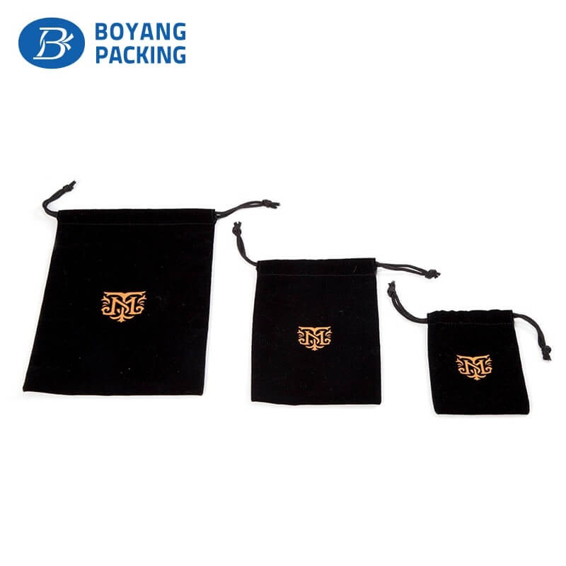high quality black velvet watch pouch manufacturer