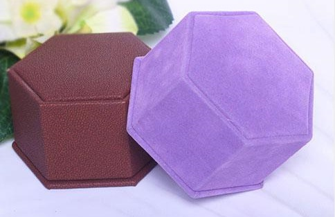 Unique design hexagonal ring box wholesale
